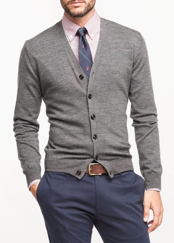 Comfy Men Looks With Cardigans For Fall And Winter