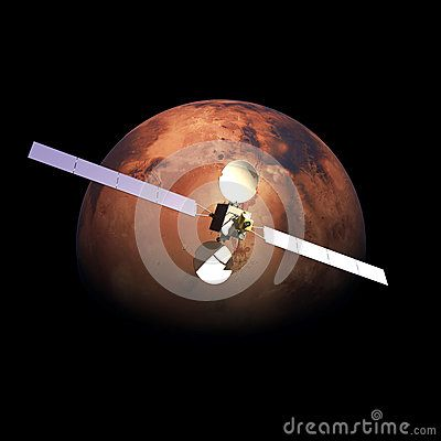 Artificial Probe orbiting above Planet Mars by Enrico Giuseppe Agostoni, via Dreamstime $20