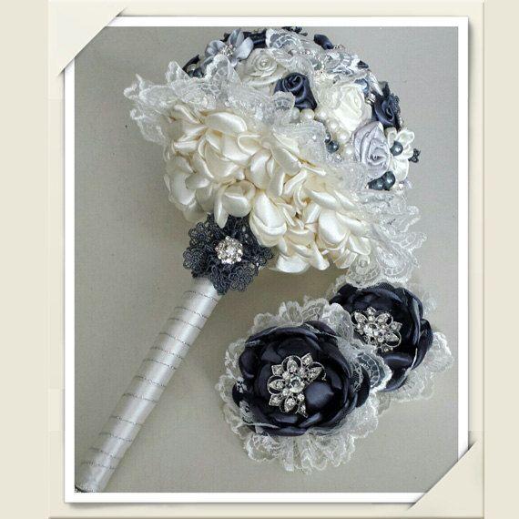 Lovely Ivory Wedding Bouquet by Boeket4love on Etsy
