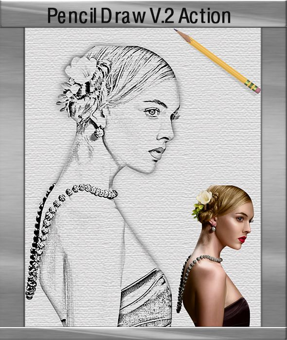 GraficAction | Pencildraw Photoshop Action V2