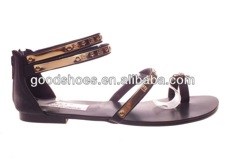 the latest womens flats for 2014 | metal decoration, View fashion flat summer sandals 2014 for women ...