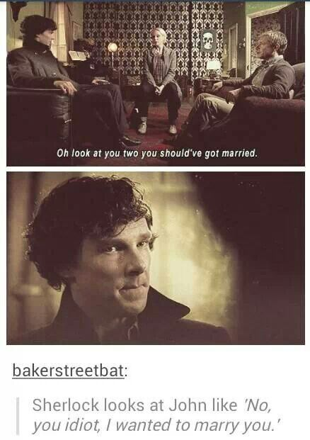Johnlock- not a fan but still had to pin--- aaay u.u si Juano como no puedes ver que el Sherlock te quería a ti???