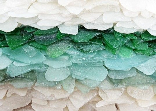 jonathan fuller, sea glass, cornish, uk, sculpture, detail, recycled materials, eco art, sustainable design, recycled glass, waste reduction, glass beach