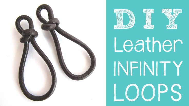 Leather Jewelry Tutorial - DIY Leather Infinity Loops / Figure 8 Links - YouTube