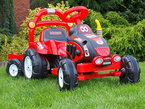 Kinderauto Kinderelektroauto Kinderelektrofahrzeug Traktor 6 V rot Kindertraktor