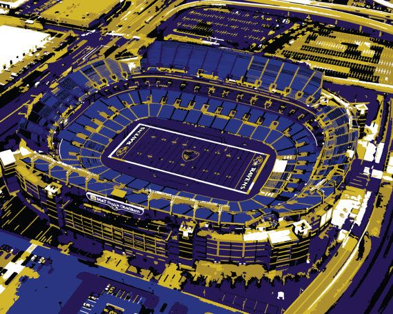 Baltimore Ravens art M&T Bank Stadium Baltimore by ArchiGRAPH