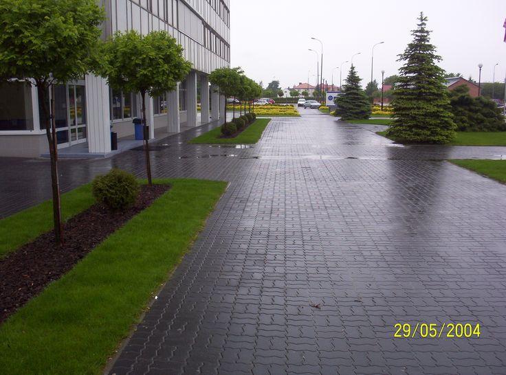 Landscape architecture garde. PROJEKTOWANIE OGRODÓW Kielce .Zieleń przy firmie. FEDERAL-MOGUL GORZYCE