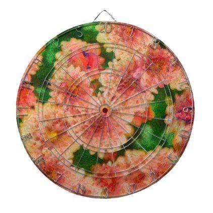 Abstract Mums Floral Art Dartboard With Darts - romantic gifts ideas love beautiful
