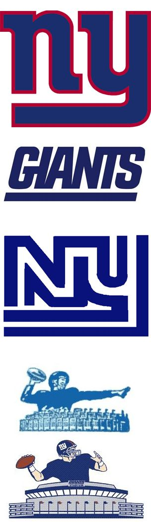 NY Giants Logos. Who I'm Cheering For #EsuranceFantasyTailgate