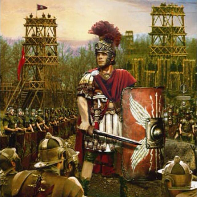 SOUMISSION DE LA GAULE BELGIQUE 57 av JC, 1°contre les Belges,12: BATAILLE DE L'AISNE. S'établissant sur une position élevée en avant du camp, César fait creuser des forts de part et d'autre de la colline pour protéger son front droit par des machines de guerre, l'autre flanc étant accoudé à la rivière. Les 6 légions de la campagne contre les Helvétes puis contre les Germains sont alignées devant le camp (les VII, VIII, IX, X , XI et XII), les 2 dernières étant mises en réserve (les XIII et…