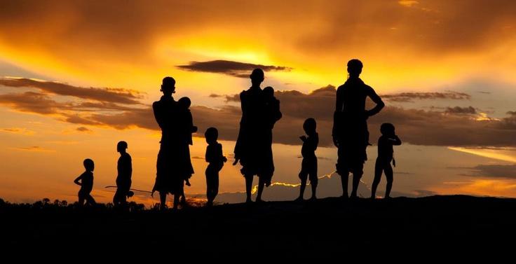 Photo: Kara tribe, Omo Valley, Ethiopia, at sunset  © Steve McCurry for OMO CHILD
