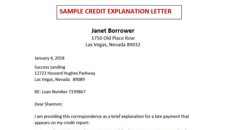 There S A Winning Formula For Writing Credit Explanation Letters Download This Sample When You Scroll Down To The H The Borrowers Helpful Hints Mortgage Loans