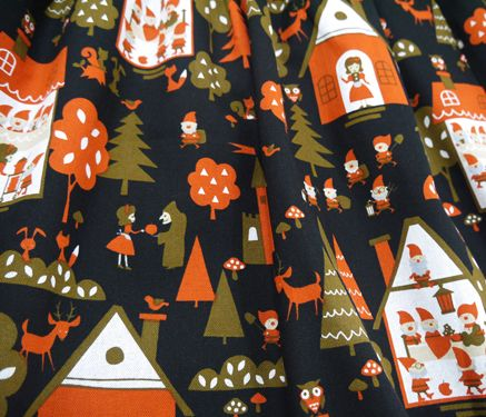 Fabric used in winter collection 2014. Snow White.