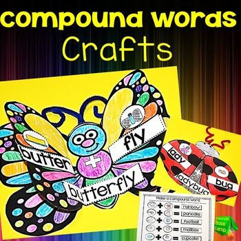 Compound Words Craft - Great activity to use after teaching compound words