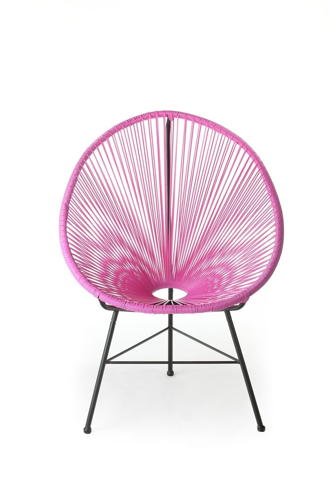 Acapulco Outdoor Lounge Chair Fuschia, The Khazana Home Austin