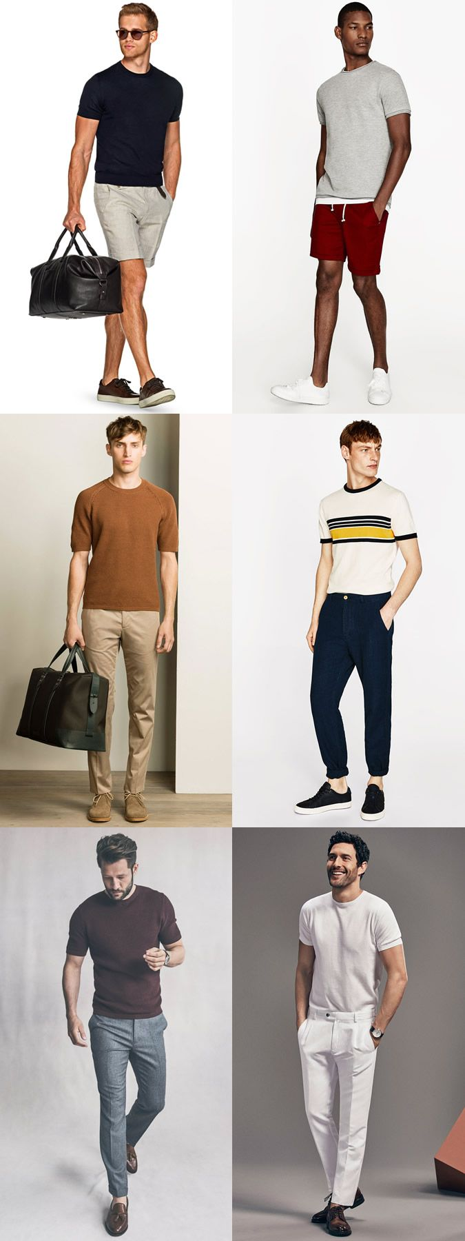 Men's Knitted T-Shirts Outfits Lookbook Inspiration