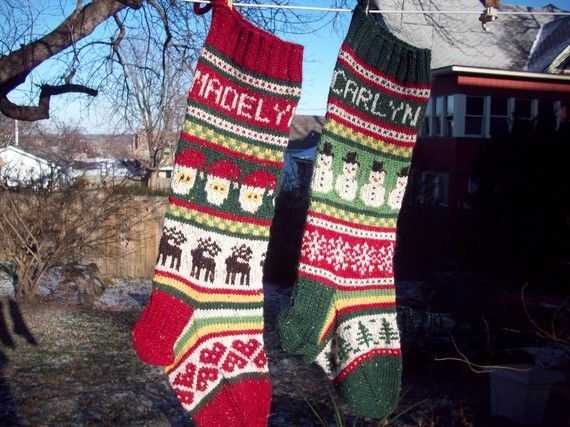 61 best Christmas Stockings images on Pinterest | Knitted ...