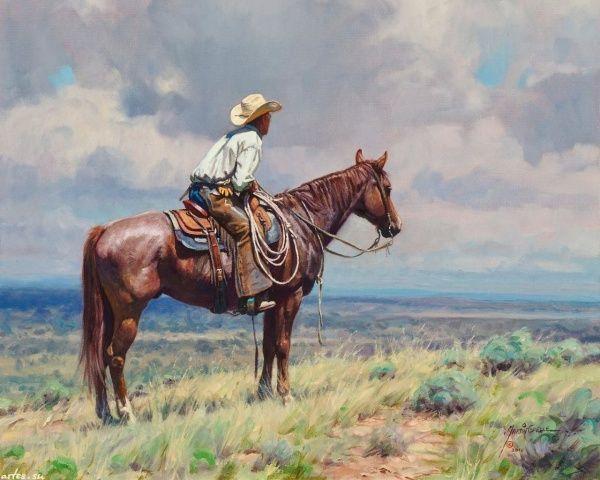 Por Amor al Arte: Viejo Oeste Americano en la pinturas de Martin Grelle.