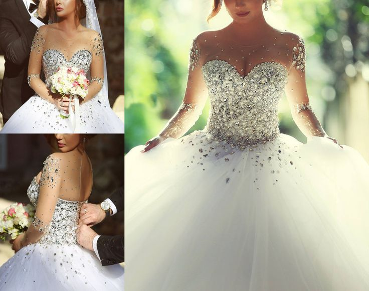 Princess Ball Gown Wedding Dress: 1000+ Ideas About Crystal Wedding Dresses On Pinterest