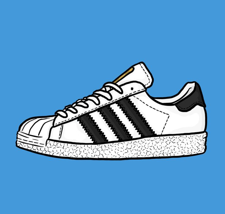 adidas superstar with boost sole illustration  #sneakerart #daleillustration
