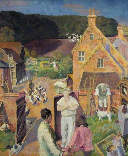 Summer Evening, Hook End Farm by Gilbert Spencer Date painted: 1957