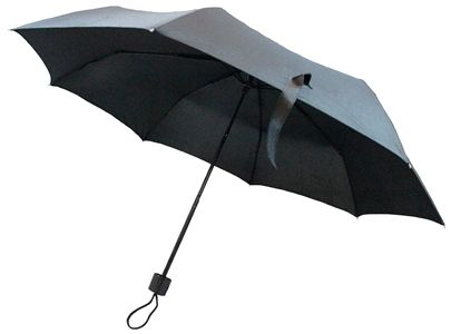 "This isn't your ordinary cheap flimsy umbrella seen else where! Our 42"" lightweight deluxe personal umbrella features black pongee fabric and strong black metal frame for windy conditions. It folds small (9"" x 2"") enough to fit into your purse or briefcase! Sold per case of 12 only. http://www.wholesalemart.com/Wholesale-Umbrellas-s/313.htm"