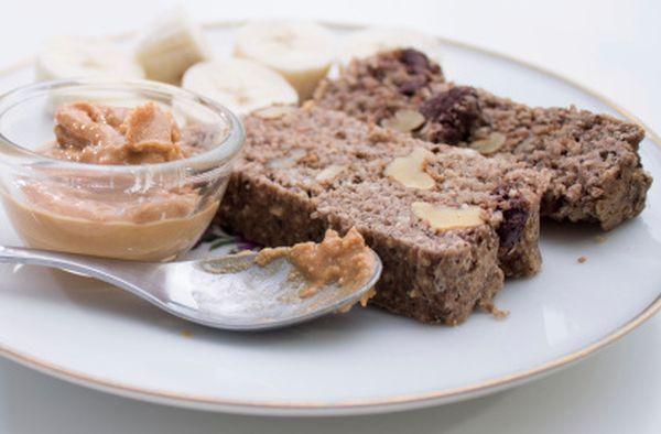 Torta alla banana cioccolato e burro di arachidi