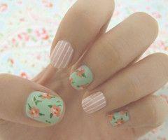 love this : Nailart, Style, Makeup, Beauty, Nail Design, Nails, Floral, Flower, Nail Art