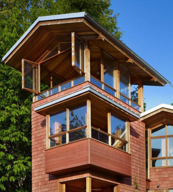 Lakefront Cottage Design Idea Observation Loft