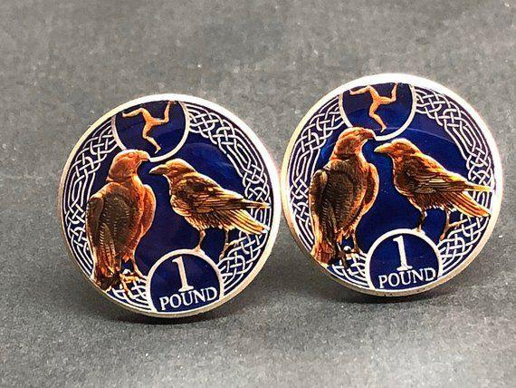 Iraq coin cufflinks date palms 23mm