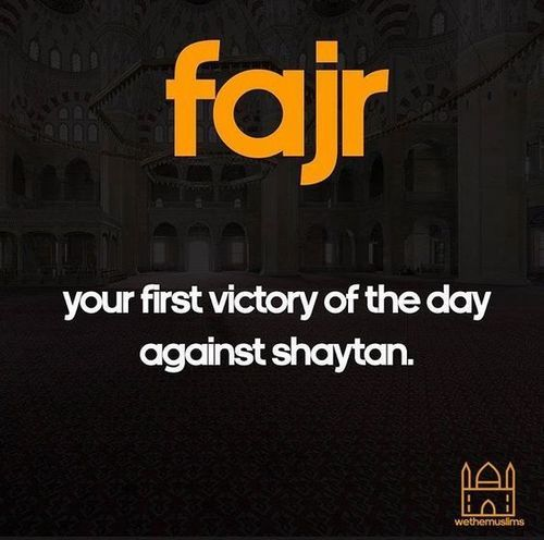 Set your day up for success by waking up and praying Fajr!