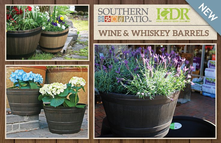 Check out our new Southern Patio Wine and Whiskey Barrels! They are made from High Density Resin, so they're strong, lightweight and weather resistant, meaning they won't rot, rust or splinter like traditional wooden barrels. What a great way to bring a rustic touch to the garden that lasts! http://www.northcotepottery.com/pottery/southernpatio