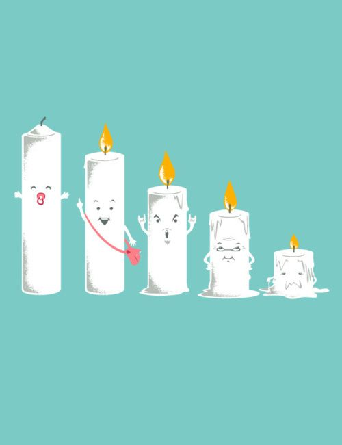 Ha! Candle life cycle...: Chow Hon Lam, Hilarious Illustrations, Life, Age Parents, Candles, Art Prints, Funny Stuff, Families, Design
