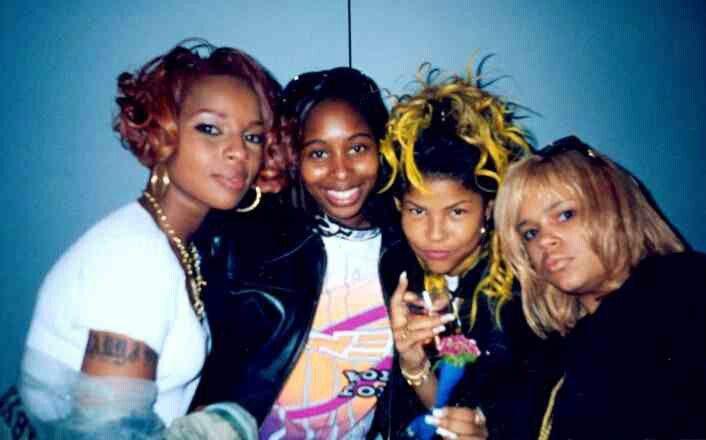 Mary J. Blige, Latonya Blige Misa Hylton Brim, & Faith Evans 1994