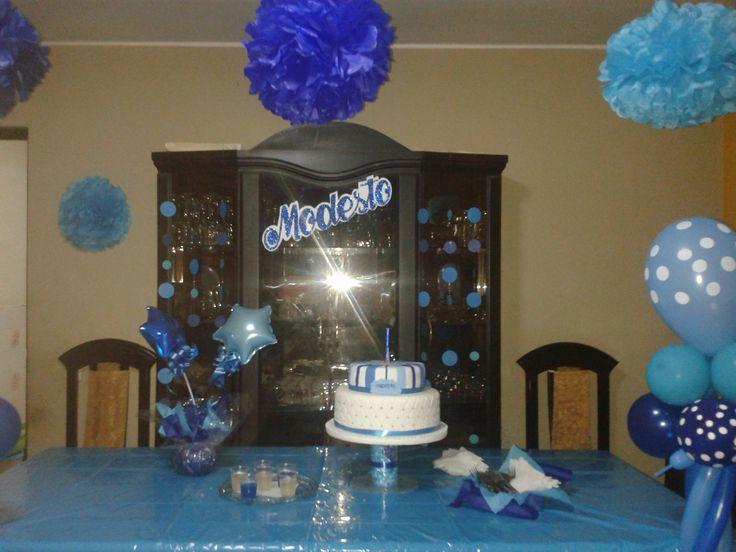 Sencilla torta celeste