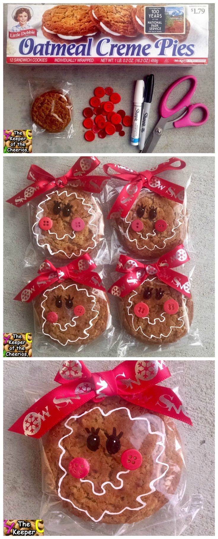 Cutest Prepackaged Gingerbread Cookies For A Christmas Treat In The  Classroom!