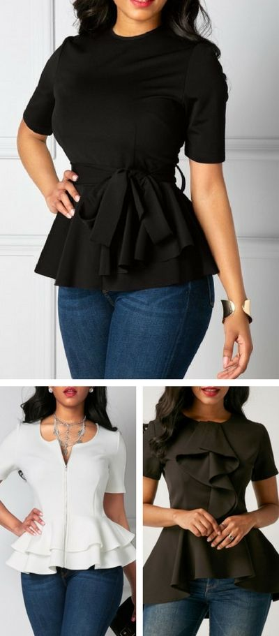 blouse, short sleeve blouse, cute blouse, blouse for work, business blouse, womens blouse, free shipping worldwide at Rosewe.com.