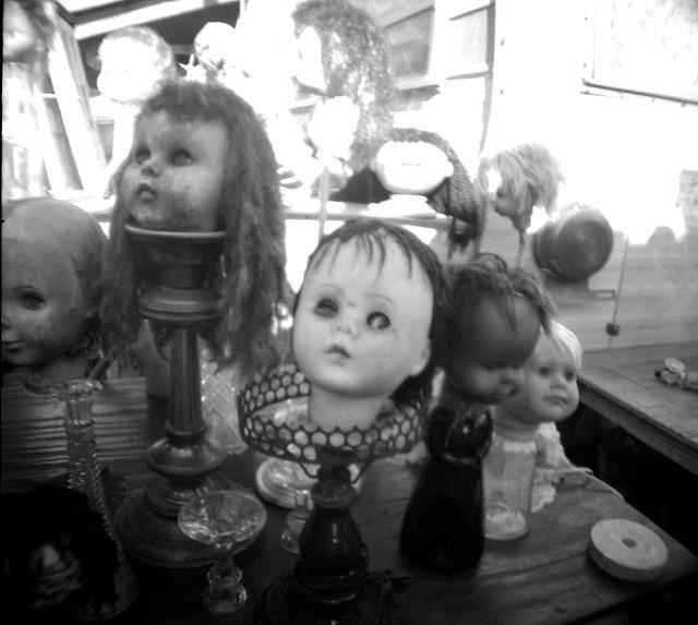 Love creepy doll heads!