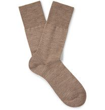 The over-the-calf length of <a href='http://www.mrporter.com/mens/Designers/Loro_Piana'>Loro Piana</a>'s socks makes them perfect for adding an extra layer of insulation on chilly days. This Italian-made mélange pair is spun from the label's premium cashmere for a sumptuously soft feel and blended with stretch for flexibility.