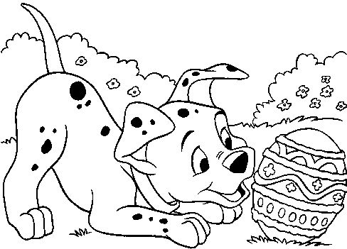 easter egg 101 dalmations coloring pages printable