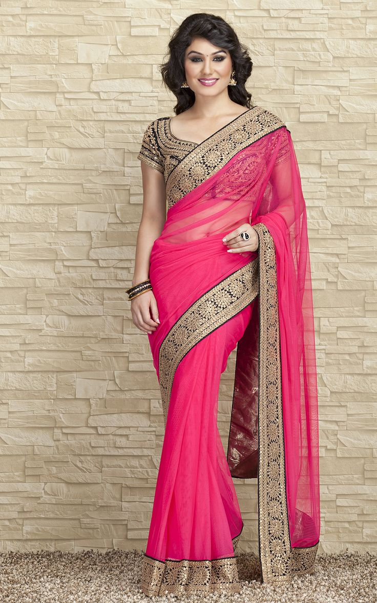 Embroidery Boarder Saree on Nett Fabric  Website : http://www.bhartistailors.com/ Email : arvin@bhartistailors.com