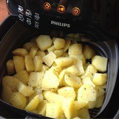 Gebakken aardappeltjes uit de airfryer