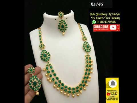 79b0361f02bf8 Australia Shipping Available /Latest trendz 1 gram gold jewelry with ...