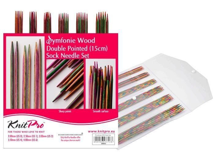 "KnitPro ""Symfonie"" Double Pointed Knitting Needles Set - 10cm or 15cm"