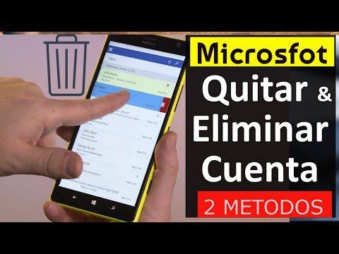 4 Pasos: eliminar completamente cuenta Microsoft (Outlook.com, Hotmail y Onedrive) - YouTube