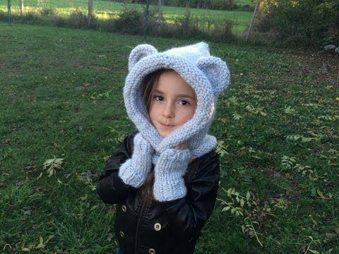Comment réaliser une capuche avec des oreilles d'ours... Idéal pour l'hiver !