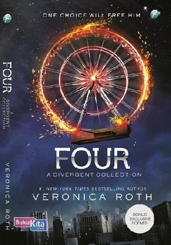 Four: A Divergent Collection, mengisahkan perjalanan Divergent Trilogy dari sudut pandang Tobias Eaton. Dengan bonus tiga scene ekslusif bersama Tris. Kisah pelengkap Divergent Trilogy yang romantis dan penuh aksi lengkapi seri divergent mu hanya di bukukita.com Rp 50.150 :)