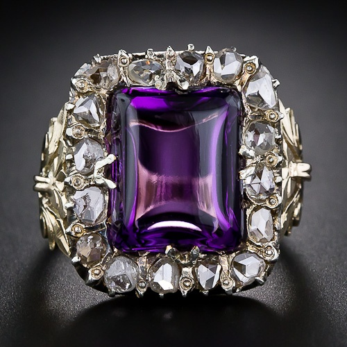 Antique Amethyst and Diamond Ring - already pinned this ring, but wanted to pin this alternate view to get the deep purple of the stone