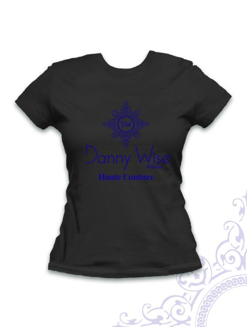 T,Shirt DANNY WISE Black with logo blu Wise , very difficolt to find only for collector and fan . only in danny wise stores. 100% cotton slim model.