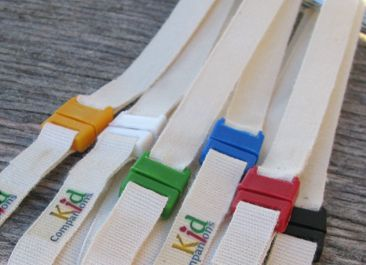 """Organic Cotton Breakaway Lanyards -20"""" sold by SentioLife Solutions now on Storenvy! Great for replacements or spares our undyed lanyards are 100% organic cotton and a suitable length for youth. It may be the best choice if your child is a fabric chewer as undyed lanyards are non-allergenic and durable. The breakaway is small and lays flat. It was designed specifically for children and conforms to ASTM toy safety standard: 5lbs release strength-"""